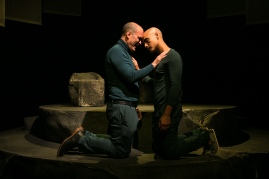 Dave (Lawrence Radecker) and Gil (Shoresh Alaudini) understand each other like no one else can. Photo by Cheshire Isaacs for Crowded Fire Theater.