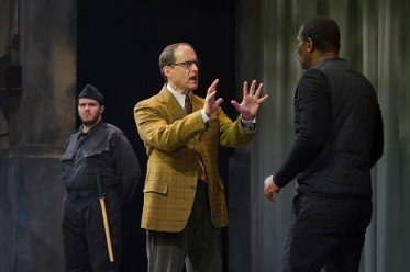 Horatio (Anthony Fusco) tells of what he's seen. Photo by Kevin Berne.
