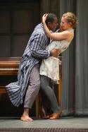 Hamlet (John Douglas Thompson) and Ophelia (Rivka Borek). Photo by Kevin Berne.
