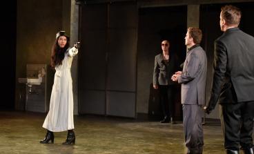 Isabella (Lindsay Rico), Lucio (Adam Schroeder), Duke (Rowan Vickers), and Angelo (David Graham Jones). Photo by Jana Marcus.