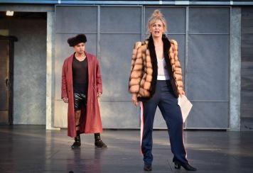 Pompey (Kevin Matthew Reyes) and Overdone (Annie Warden). Photo by Jana Marcus.