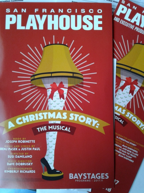 A Christmas Story at SF Playhouse - programme