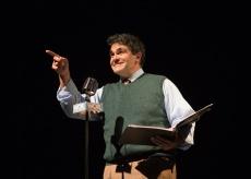 Jean Shepherd (Christopher Reber) tells the tale. Photo by Jessica Palopoli.