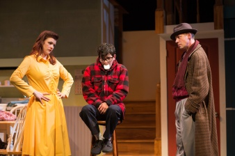 "He didn't say ""fudge"". Abby Haug, Jonah Broscow, Ryan Drummond. Photo by Jessica Palopoli."