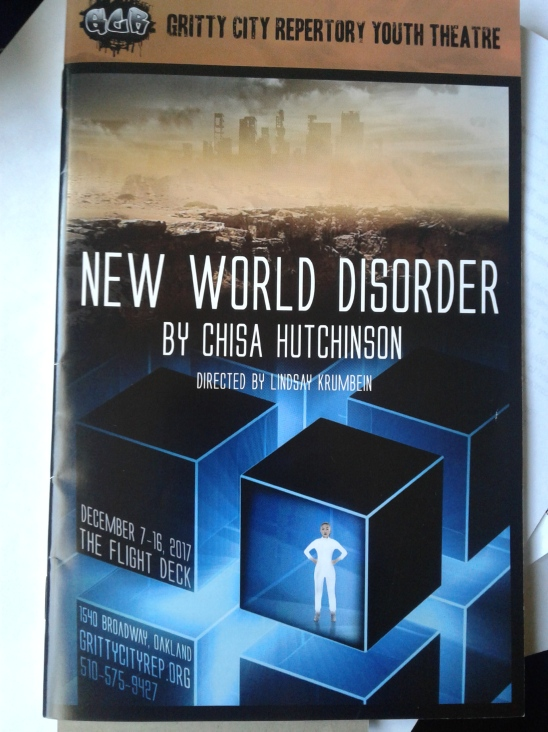 New World Disorder at Gritty City Rep - programme