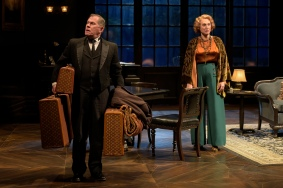 Joseph (James Detmar) and Fanny Farrelly (Caitlin O'Connell). Photo by Kevin Berne.