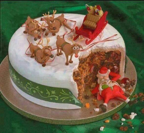 Xmas disaster cake