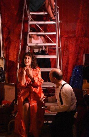 Blanche (Lisa Ramirez) and Mitch (Dominick Palamenti). Photo by Ubuntu Theater Project