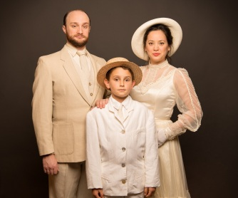 Edgar (Elijah Cooper) and his parents (Brian Watson and Mindy Lym). Photo by Ben Krantz.