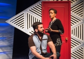 Marcus (William Giammona) and Susan (Desiree Rogers) discuss Kevin's behavior. Photo by Lois Tema