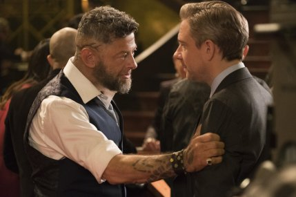 Klaue (Andy Serkis) and Agt. Ross (Martin Freeman). (c) Marvel Studios