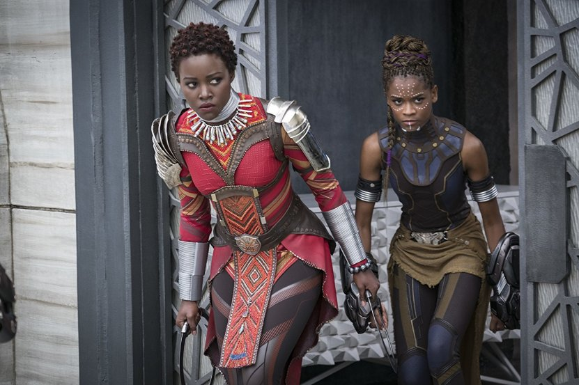 Nakia (Lupita Nyong'o) and Shuri (Letitia Wright). (c) Marvel Studios