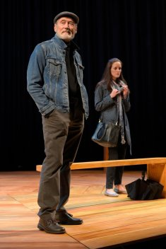 Alex Priest (James Carpenter) and Georgie Burns (Sarah Grace Wilson). Photo by Kevin Berne.