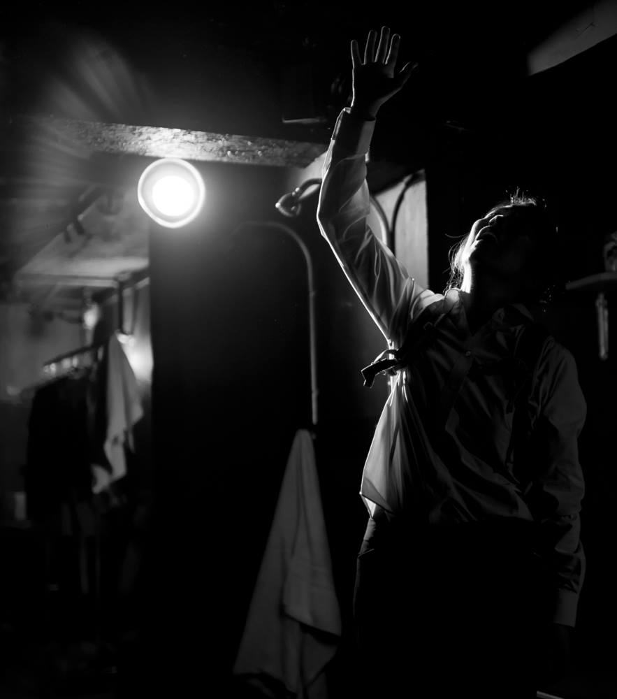 NewMumMel (Shawn Oda) absorbs all that she's heard. Photo by Robin Jackson.