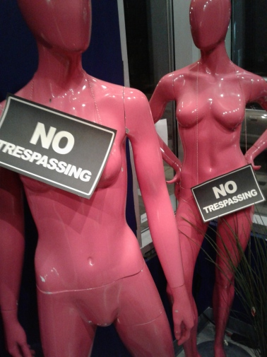 Lobby mannequins. Photo by Me.