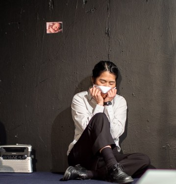 NewMumMel (Shawn Oda) thinks of what awaits her back home. Photo by Robin Jackson.