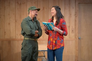 An American suitor (JomarTagatac) vies for Tong's (Jenelle Chu) affection. Photo by Kevin Berne.