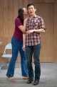 Opposites attract with Tong (Jenelle Chu) and Quang (James Seol). Photo by Kevin Berne.