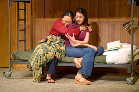 Tong (Jenelle Chu, right) and her mother (Cindy Im) start a new life in the US. Photo by Kevin Berne.
