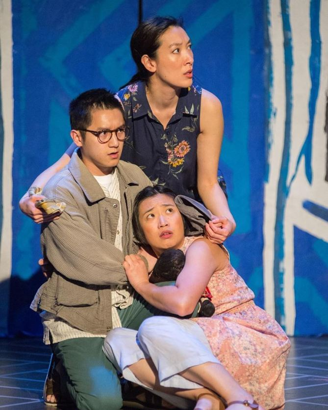 Mother (Kathryn Han), Brother (Benjamin Nguyen), and Hà (Krystle Piamonte). Photo courtesy of Bay Area Children's Theatre.