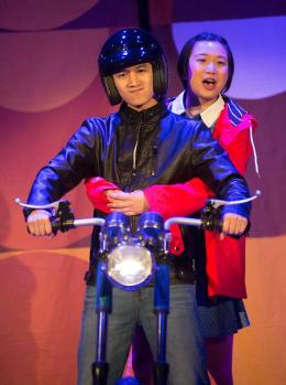 Brother (Benjamin Nguyen) and Hà (Krystle Piamonte). Photo courtesy of Bay Area Children's Theatre.