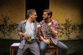 Alfred (Timothy Roy Redmond) insists that he and Justin (Josh Schell) have more in common than the latter realizes. Photo by Jessica Palopoli.