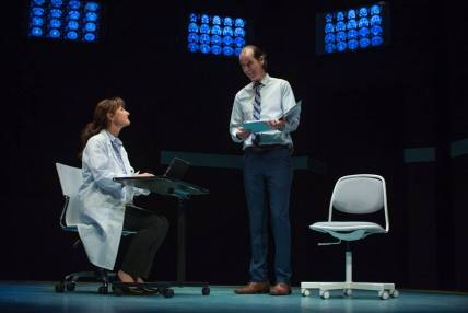 Dr. Lorna James (Susi Damilano) finds her every move scrutinized by Dr. Toby Sealey (Robert Parsons). Photo by Jessica Palopoli.
