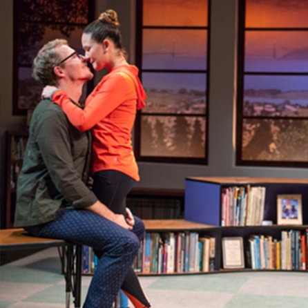 Eli (Teddy Spencer) and Meiko (Charisse Loriaux) share a secret romance. Photo by David Allen.