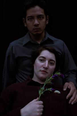 Radius (Louel Señores) and one of his creators, Karel (Ava Maag). Photo by Marisa Darabi.