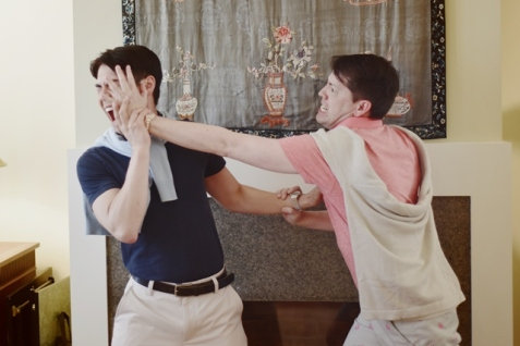 The brotherly love of Christopher (Sean Fenton) and Joshua (Greg Ayers). Photo by Annie Wang.