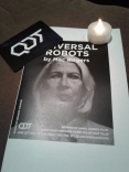 As usual, QDT shows have trading cards. Also, the audience took part with the mini-candles. Photo by Me.