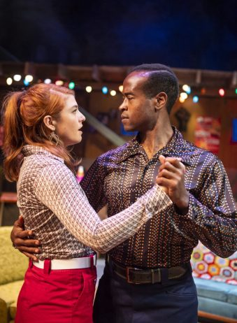 Caroline (Emily Radosevich) and Lank (Rafael Jordan) find themselves inexplicably drawn to one another. Photo by David Allen.