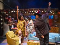Bunny (Akilah A. Walker) and Sly (Myers Clark) appreciate the music and the movement of the times. Photo by David Allen.