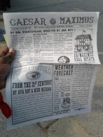 Newspaper-program for 'Caesar Maximus' by We Players. Photo by Me.