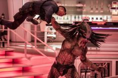 The Predator is awake and very, very angry. Photo by Kimberley French for 20th Century Fox.