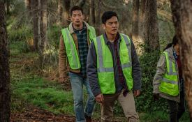 Peter (Joseph Lee) and David Kim (John Cho) in 'Searching'. Photo courtesy of Sony Pictures/Screen Gems
