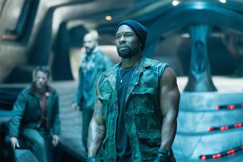 No one from Group 2 (Thomas Jane, Keegan-Michael Key, Trevante Rhodes) was prepared for what they'd find on an alien ship. Photo by Kimberley French for 20th Century Fox.