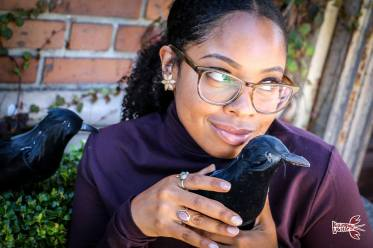 Keyaira Lock and her feathered friend. Photo by Rebecca Hodges.