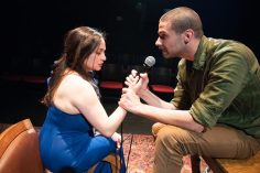 Yeléna (Virginia Blanco) and Dr. Ástrov (Adam Magill) make a connection. Photo by Ben Krantz Studio.