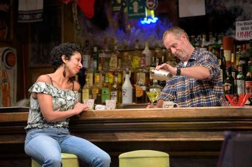 Jessie (Sarah Nina Hayon) is one of Stan's (Rod Gnapp) most loyal customers. Photo by Kevin Berne.