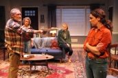 Mitch (James Carpenter, far-left) forces Annie (Martha Brigham, far-right) to face the truth about her late brother, as Angela (Emilie Talbot) and Macy (Emily Radosevich) look on. Photo courtesy of Magic Theatre.