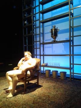 Ványa (George Saulnier) pre-show. Set by Fred Kinney. Photo by Me.