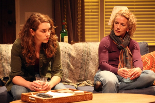 Annie (Martha Brigham) and her mother Angela (Emilie Talbot) reconnect over tragedy. Photo courtesy of Magic Theatre.