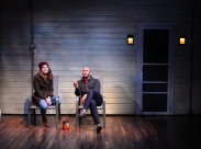 Annie (Martha Brigham) reconnects with Liam (Wiley Naman Strasser), her late brother's partner. Photo courtesy of Magic Theatre.