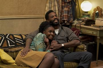 Tish (KiKi Layne) and father (Colman Domingo) at a more pleasant moment. © 2018 Annapurna Releasing, LLC