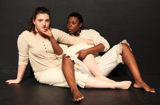 Ella Ruth Francis and Jeunée Simon in 'La Ronde'. Photo courtesy of Cutting Ball Theater.