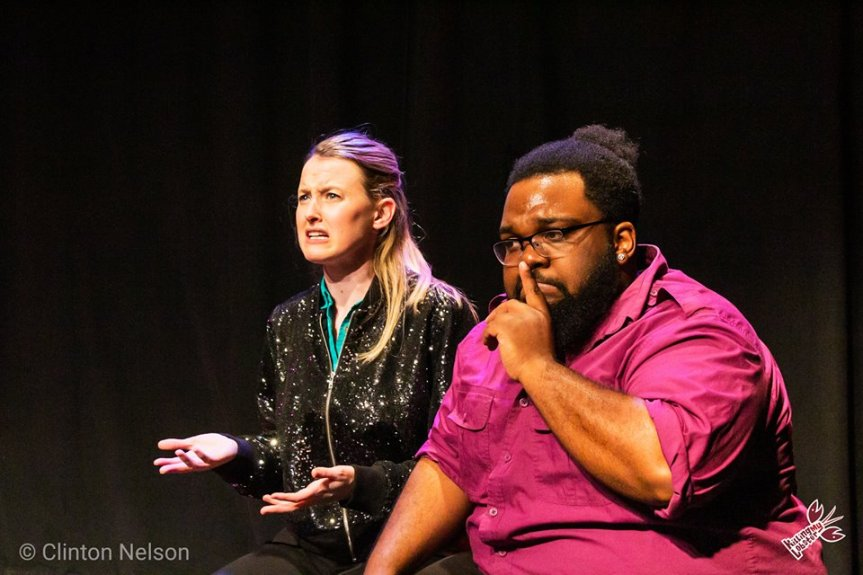 A woman (Courtney Merrell) tries to come to terms with her husband's (Alsa Bruno) peculiar fetish. Photo by Clinton Nelson.