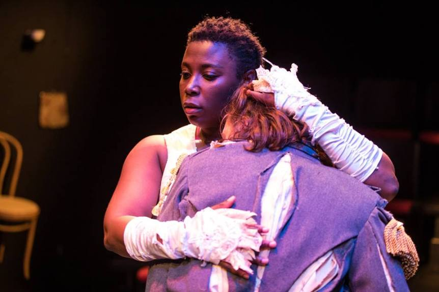 Jeunée Simon and Ella Ruth Francis in 'La Ronde'. Photo courtesy of Cutting Ball Theater.
