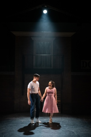 Tony (Will Skrip) meets a girl named Maria (Ana Paula MalagÓn). Photo by Ben Krantz