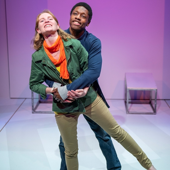 Amber (Ella Dershowitz) seems to be starting a magical romance with Tom (Michael A. Curry). Photo by David Allen.